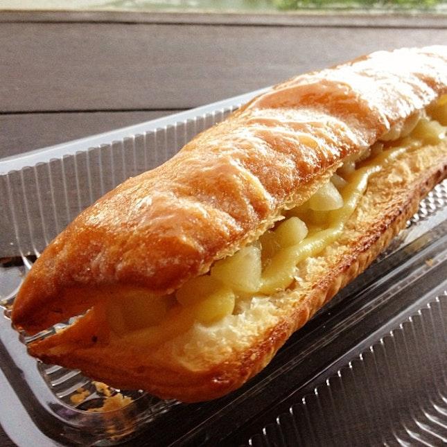 152/365 days - first time to taste #applestrudel 🍎😋 #yum #nom #food #pastry #love #apple #strudel