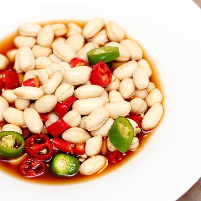 [Si Wei Yan] - It took me a while to get used to having Raw Peanut in Spicy Soy Sauce ($6).