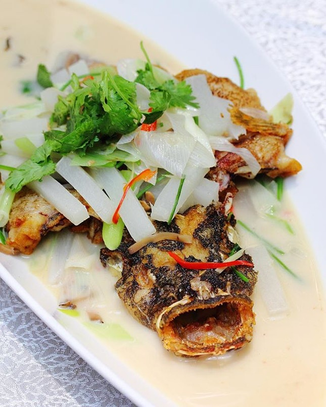 [Paradise Teochew Restaurant] - Pan Fried and Braised Marble Goby (seasonal price).