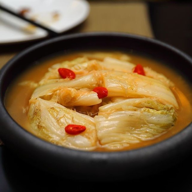 [Yellow Pot] -  Braised White Cabbage ($12).
