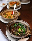 [Hai Tien Lo] - Claypot Hong Kong Kai Lan with Preserved Vegetables and Pine Mushroom.
