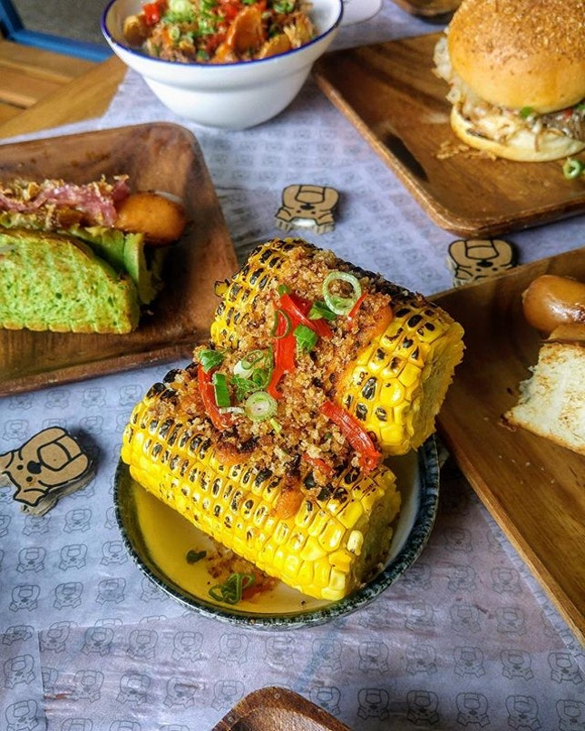 [Three Buns Quayside] - Crackalacka Corn, one of the many sides available at the burger place.
