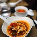 [Yellow Pot] - The Hot & Spicy Soup ($12) is made from a housemade hot bean paste.