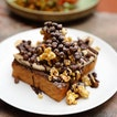 [Antoinette] - Banana Toast($12), it comes with salted butter, nutella, fresh banana, caramel popcorn, coco pops and drizzled with chocolate sauce.