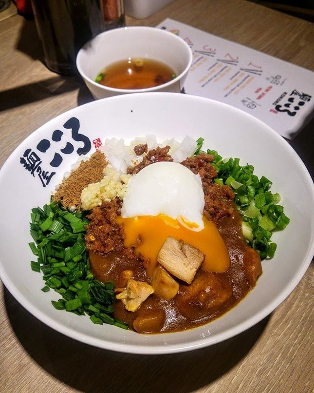 [Menya Kokoro] - Curry Maze Soba ($13.80) may be mistaken as a curry udon.