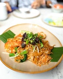 [Blue Jasmine] - Don't be mistaken, this is not Pad Thai but Thai Fried Kueh Teow with Seafood ($18).