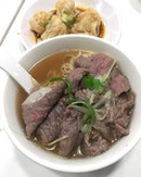 [Chee Kei] - Beef Noodles ($7.95) which comes with thinly sliced beef.