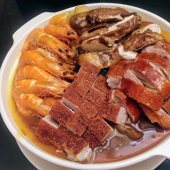 [Xin Cuisine] - Xin's Abalone Treasure Pot ($288/$428) is apparently one of the most popular festive takeaways and is possibly one of my favourite Pen Cai so far, thanks to the well braised sea cucumber and collagen-rich fish maw.