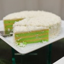 [Goodwood Park Hotel] - A favourite among the new creations for this year's durian fiesta is the D24 Pandan Lapis Coconut Cake ($16 nett per slice / $88 nett per cake, 1.2kg).