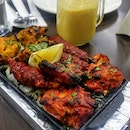 [Indian Express] - Punjabi-style Tandoori Mix Grill Platter ($19) that comes in a sizzling plate of lamb chop, fish, chicken tikka and kebab that have been grilled in the Tandoor, will have you deeply satisfied.
