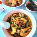 [Joo Chiat Prawn Mee] - We ordered both the dry and soup version to try, with a mix of yellow noodles and bee hoon.