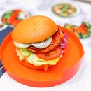 [Pink Fish] - The signature is their burger, which comes in 3 flavours (Asian, European and American).
