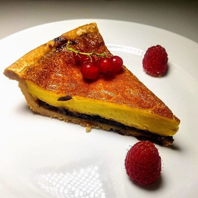 [Culina at COMO Dempsey] - Custard Tart Armagnac Laced Prunes ($15).