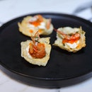 [Jam at Siri House] - Belinjo Crackers Crab Fat Crema ($13).