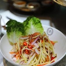 [Violet Oon] - The Mango Kerabu with Ikan Bilis ($10) resembles and tastes like the Thai mango salad with its tang and spiciness.