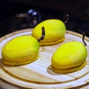 [D9 Cakery] - The Mangue ($8) is a mango-shaped pastry is filled with fresh mango cubes and oozy mango lava tossed with lemongrass zest, TWG alfonso tea (black tea and mango), Valrhona Inspiration Passion Fruit chocolate and almond sponge.
