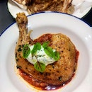[Baker & Cook] - Herb Roasted Chicken ($27) is served with tomato and butter bean stew, topped with a dollop of herb labneh (a hung yoghurt which has been drained of water).
