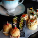 [SKAI] - The afternoon tea menu serves up a variety of sweet and savoury snacks on an elegant 3-tiered stand.