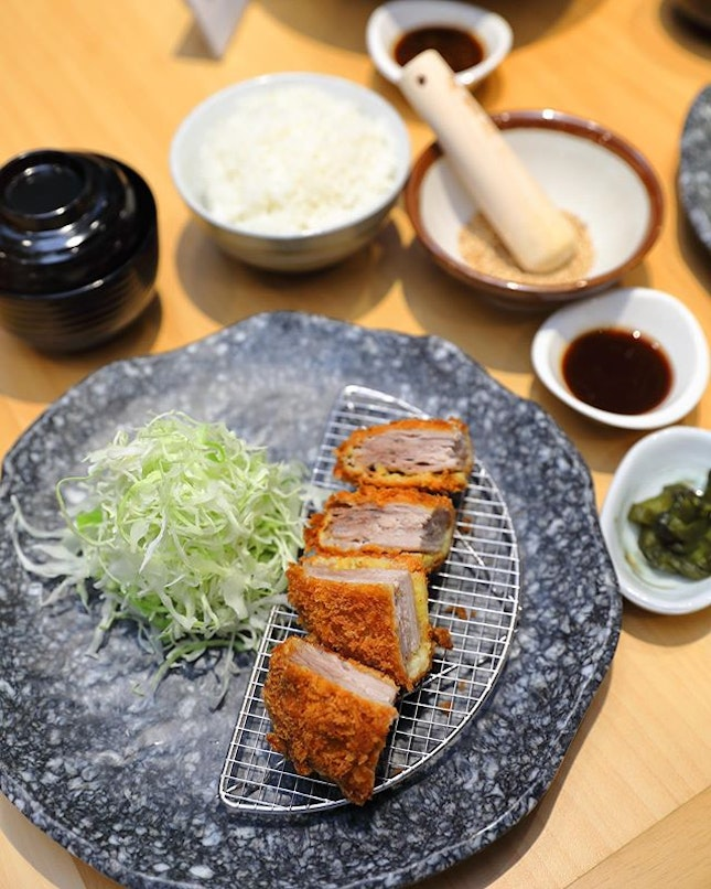[Japan Gourmet Hall SORA] - Mille-feuille Katsu Set ($26.80) which boasts 16 layers of pork.