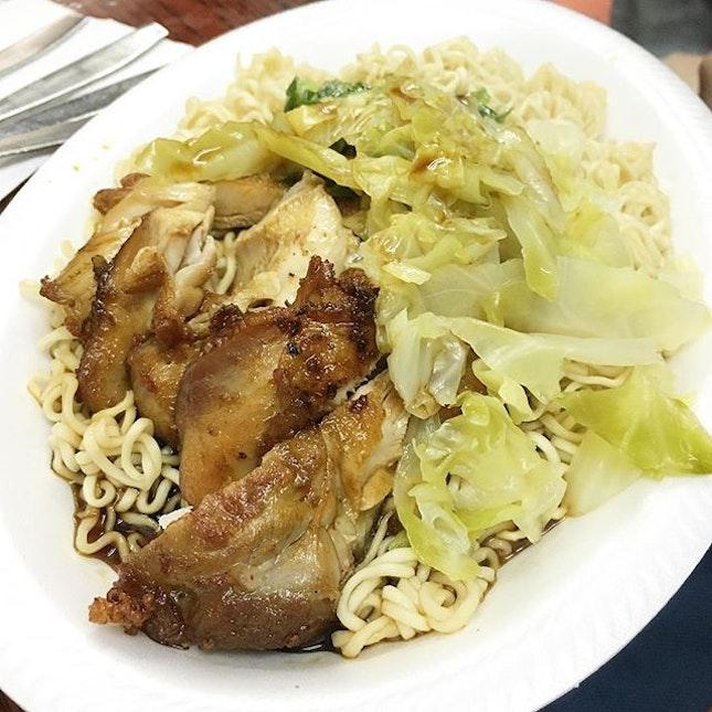 Chicken Chop Noodles (葱油鸡排捞丁)