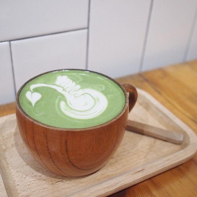 Hot Matcha Latte ($6)