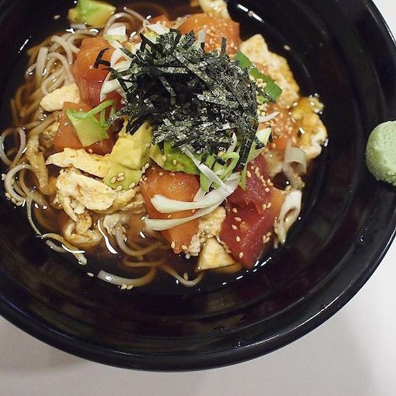 Avocado Kaisen Tororo Soba ($15)