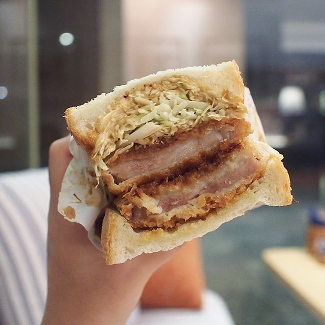 Double decker tonkatsu sandwich - got half the sandwich and it was really filling for me!
