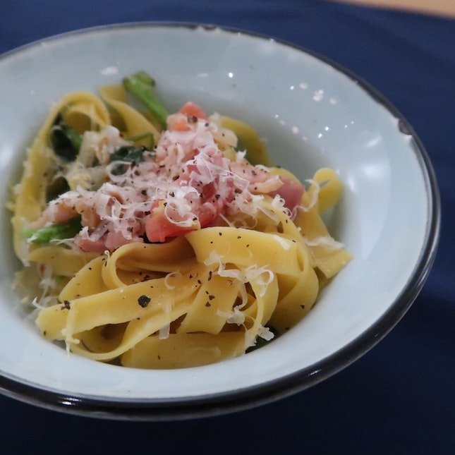 Summer pasta ($16, tasting portion pictured; 11.30-3pm)