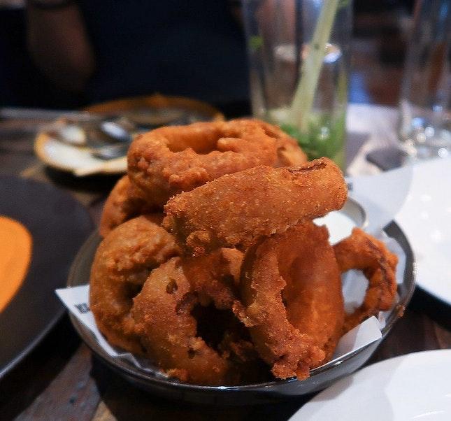 Bhaji Onion Rings ($9)