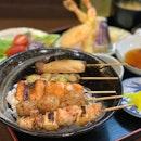 Yakitori + Tempura Set ($23.50)