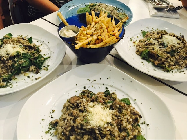 Black Truffle Risotto & Truffle Fries