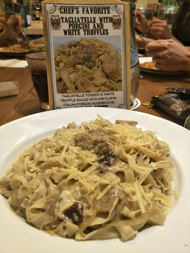 Tagliatelle With Porcini And White Truffle