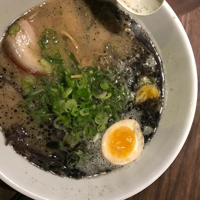 Black Garlic Oil Tonkatsu Ramen