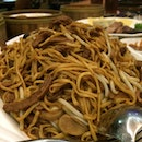 Ee-Fu Noodles with Duck Meat and Mushrooms