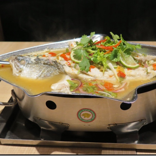 Steamed Seabass with Lime and Chilli $29.90