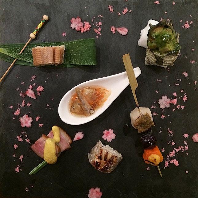 Appetizer for 10-course Kaiseki Dinner