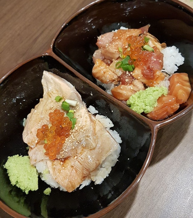 Aburi Salmon + Kaisen Don