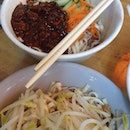 Zha Jiang Noodles And Plain Noodles Doused In Lard Oil