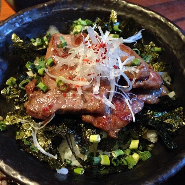 More beef, with rice #burpple #osaka