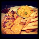 Too hungry to go anywhere else - #nandos #extrahotperiperi #chicken !