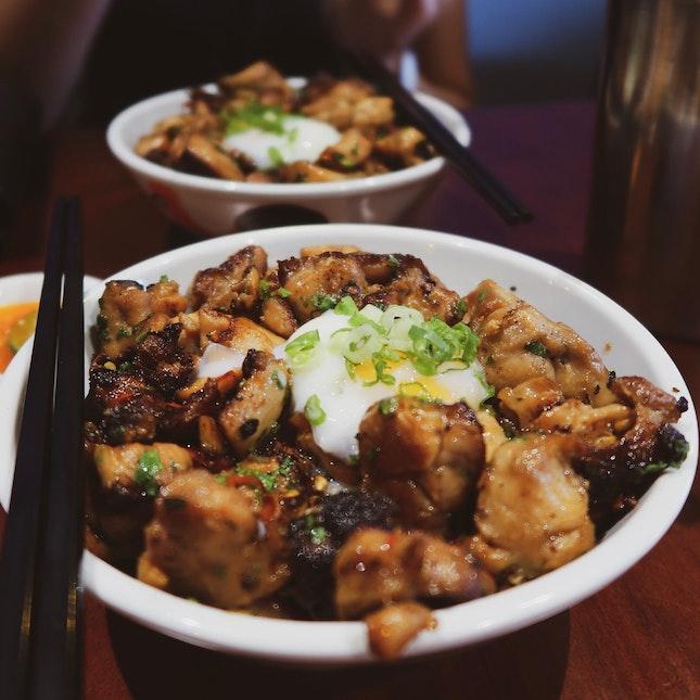 Burnt Chilli Chicken Rice Bowl 🌶 [$10]