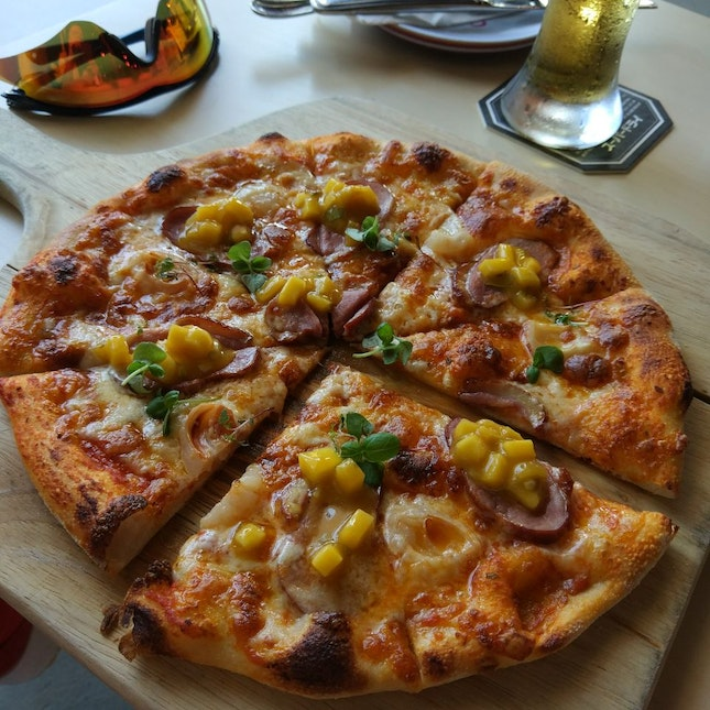 Duck Lychee Pizza ($17.80++)
