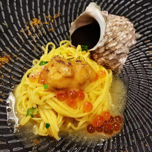 $88++ Lunch Set : Sea Urchin Tagliolini
