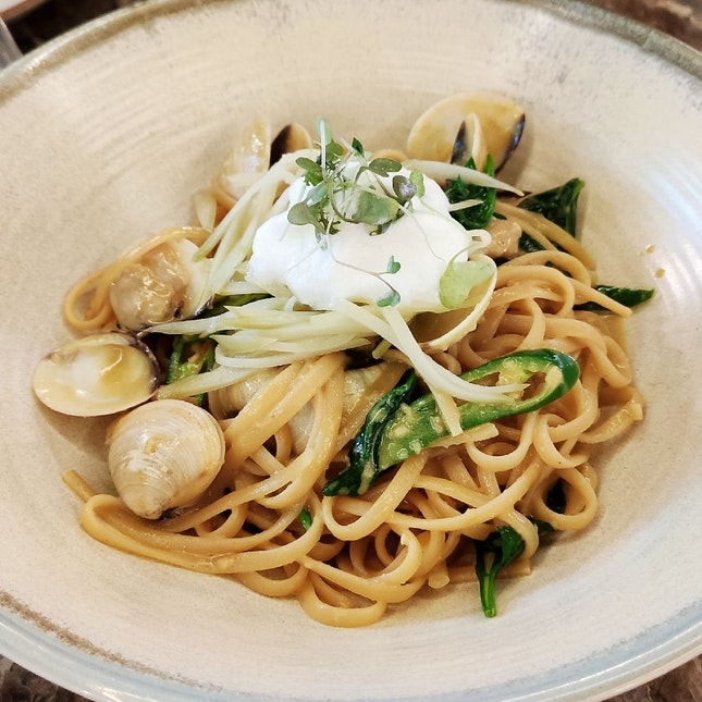 Green Curry Linguine ($22++)