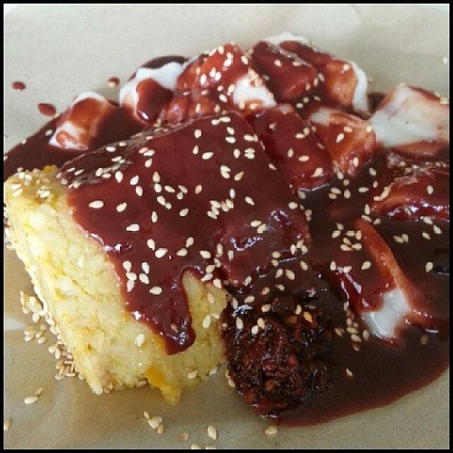 #Breakfast #猪肠粉 + #金瓜糕