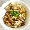 Cooking attempts Day Two: chicken mushroom claypot rice!