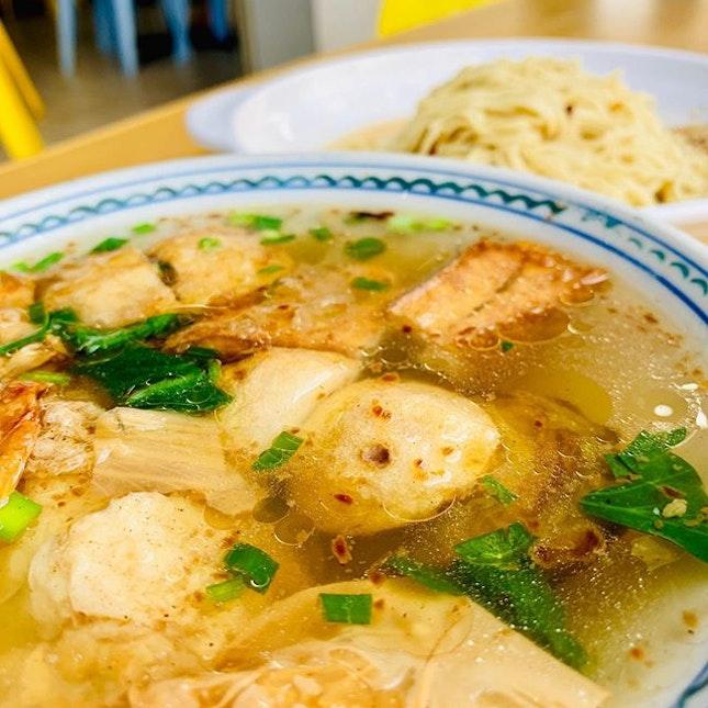 Fish noodle soup at Kim Shan, Inanam Capital.