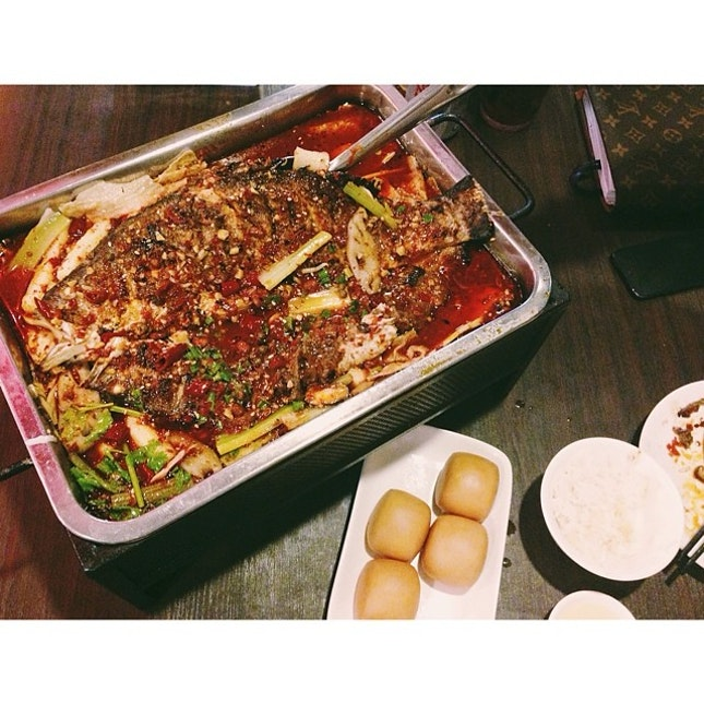 #mala #fish #spicy #hot #chongqing malagrilledfish #singaporefood #sinstagram #sgfood #foodphotography #foodreviewssg #foodnation #foodporn #foodcoma #igsg #instafood