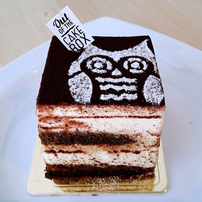 Espresso-soaked cake.