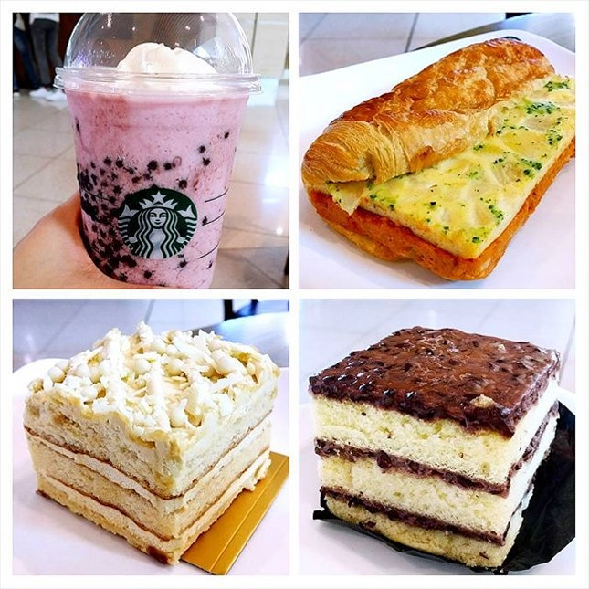 No time to try all the new items from Starbucks, only had the Otah Sandwich, Pulut Hitam Cake & Ovaltine Cake.
